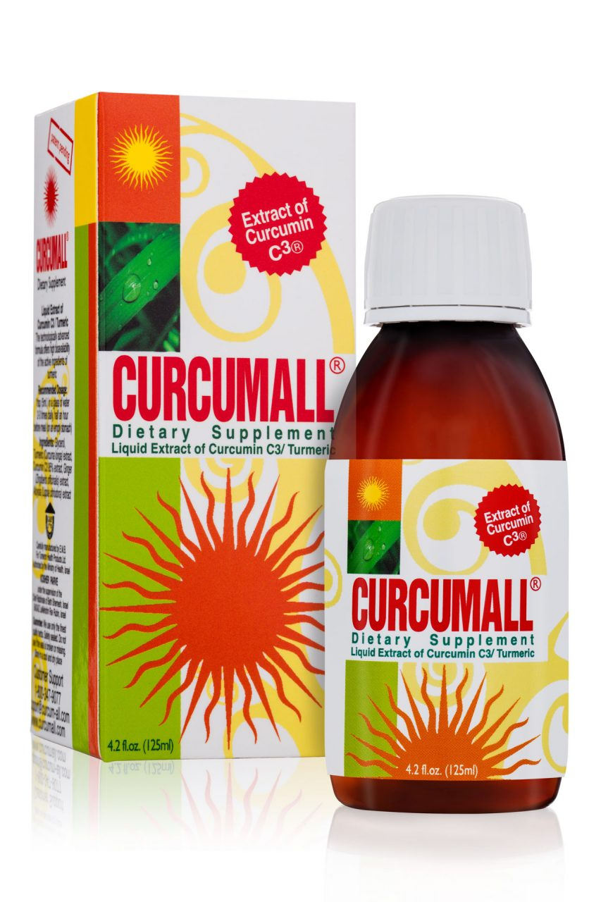 Curcumall 125 ml bottle and package