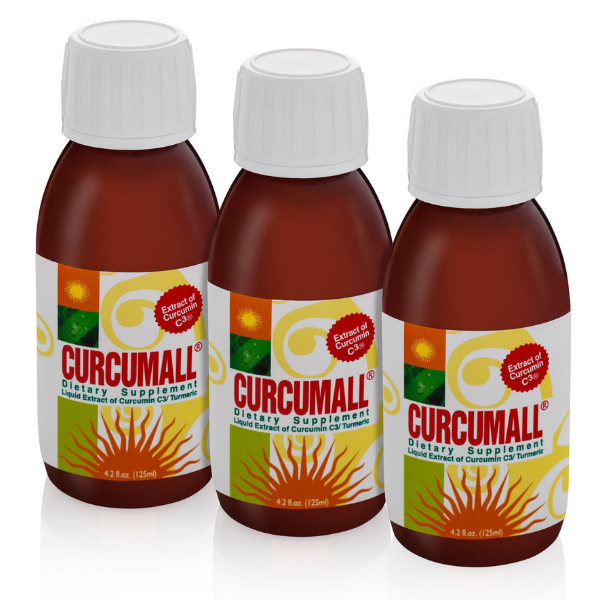 Curcumall 3x125 ml Bottles