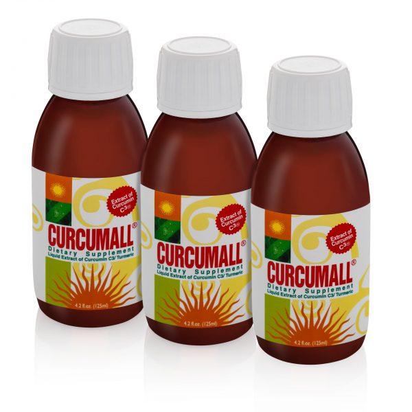 3 bottles of Curcumall 125 ml