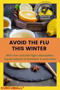Avoid flu this winter with curcumall, the natural high absorption liquid extract of turmeric and curcumin